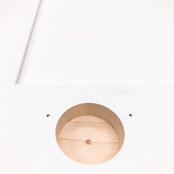 hinge hole created by the concealed hinge jig