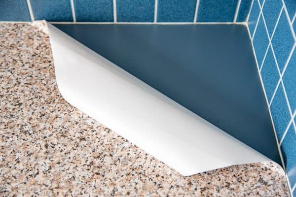 contact paper kitchen counter peeling back corner