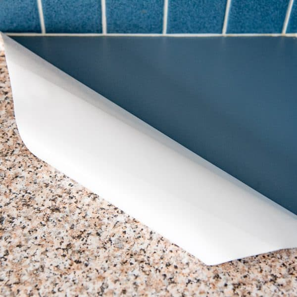 contact paper kitchen counter corner rolled up