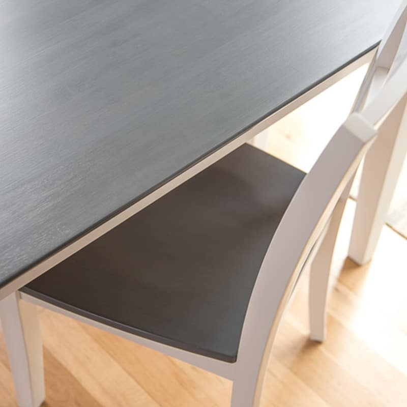 The Perfect Grey Wood Stain Dining Table Makeover