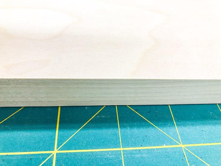 edge binding on plywood