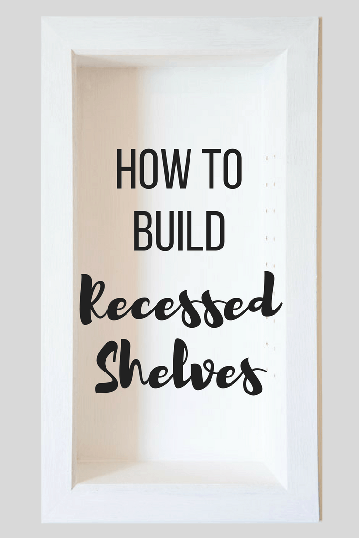 How to Build Recessed Bathroom Shelves - The Handyman's ...