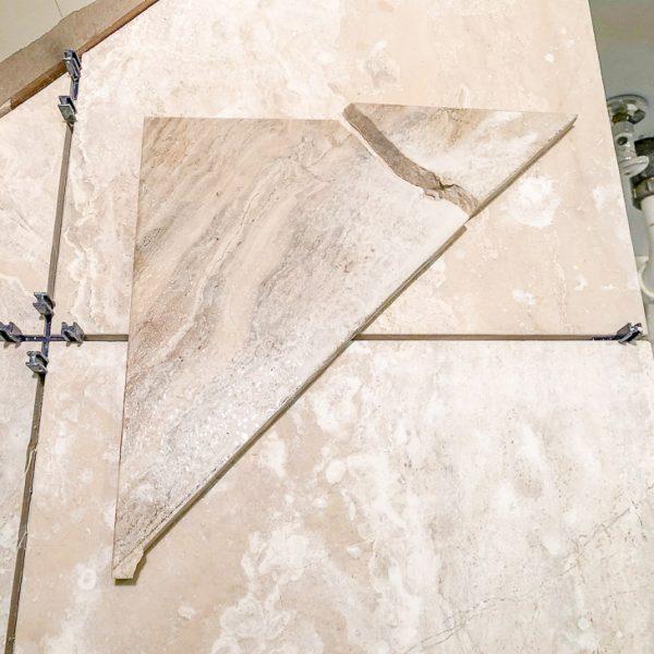 broken limestone tile