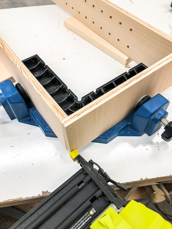 assembling recessed bathroom shelves