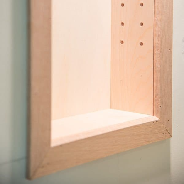 Recessed Shelf In Bathroom Wall: How To Build Recessed Bathroom Shelves
