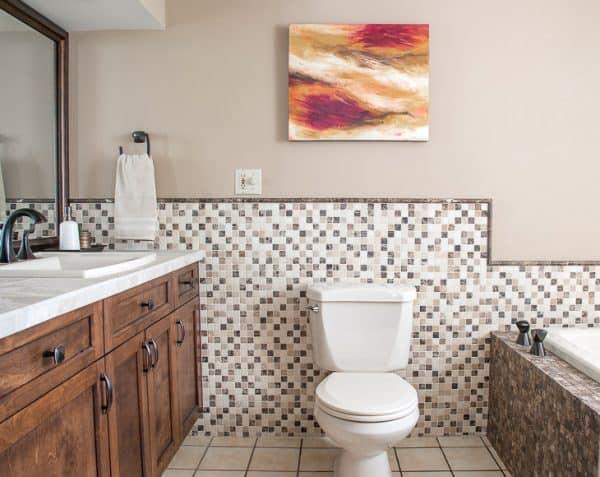 DIY bathroom renovation complete