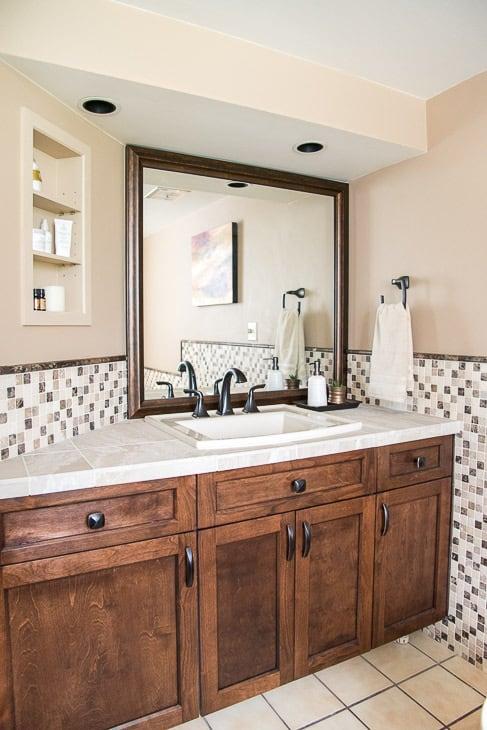 DIY bathroom renovation vanity