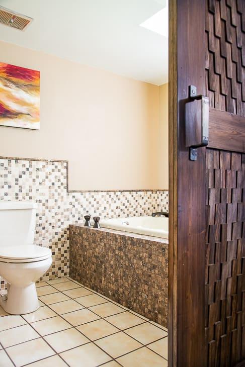 DIY bathroom renovation after photo