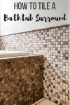 tiled bathtub surround with coordinating wall tile