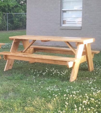 six foot long DIY picnic table