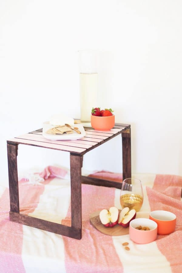 mini DIY picnic table