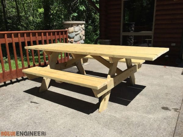 wheelchair accessible DIY picnic table