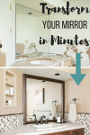 transform your builder basic mirror into a gorgeous custom framed mirror with this simple kit