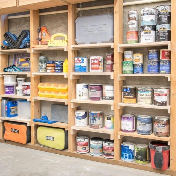 shelves between wall studs