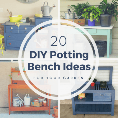20 DIY Potting Bench Ideas for Your Garden