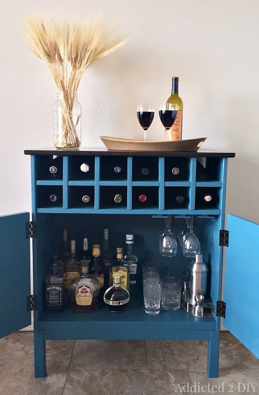 DIY wine rack ideas - Addicted 2 DIY Tarva wine cabinet