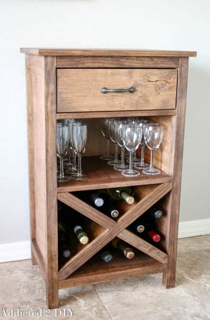 DIY wine rack ideas - Addicted 2 DIY wine cabinet