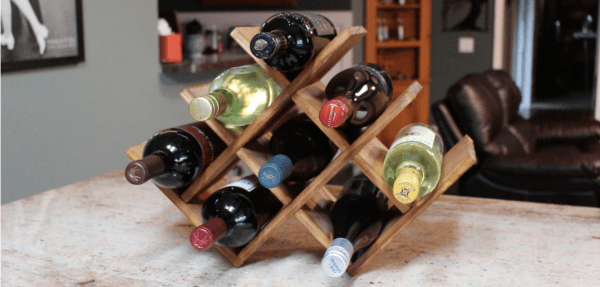 DIY wine rack ideas - April Wilkerson