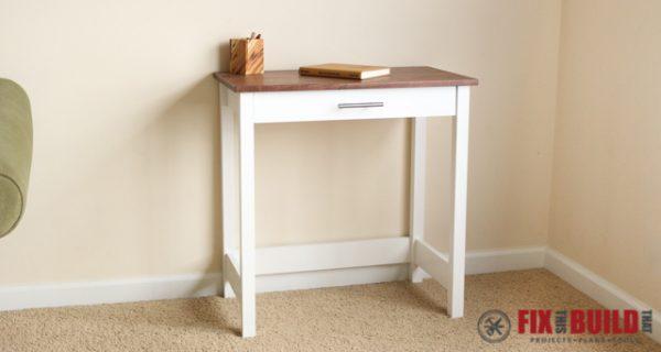 DIY desk plans - small writing desk