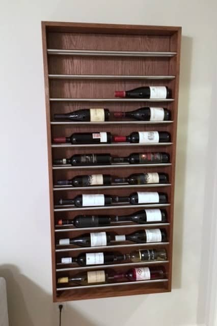 DIY wine rack ideas - IKEA Hackers towel rack hack