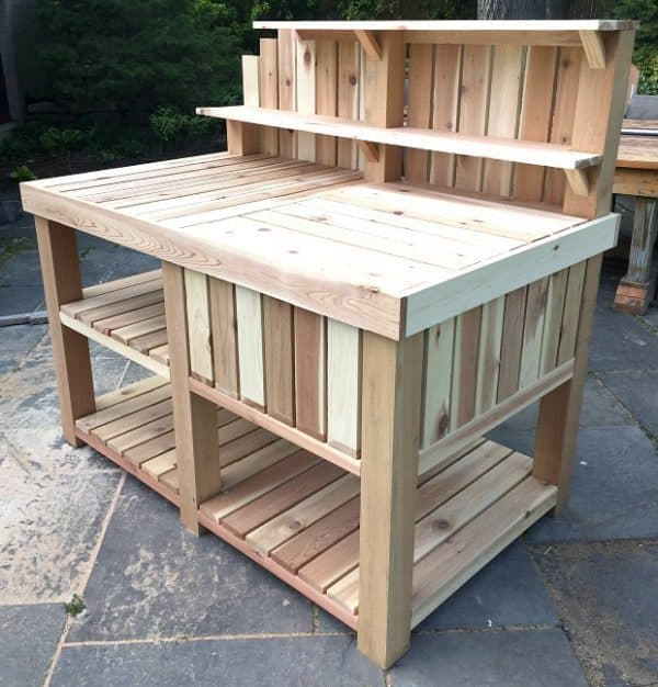 outdoor bar potting bench