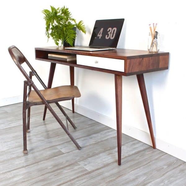 Mid Century Modern Office Desk: 15 DIY Desk Plans To Build For Your Home Office