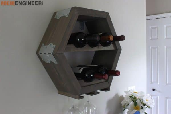 DIY wine rack ideas - Rogue Engineer hexagon wine rack