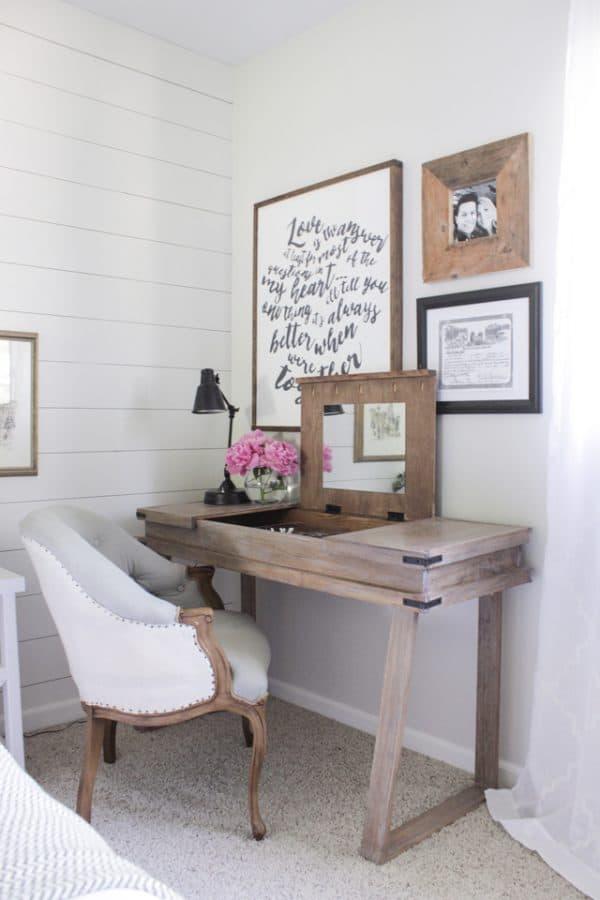 DIY desk plans - 3 compartment desk