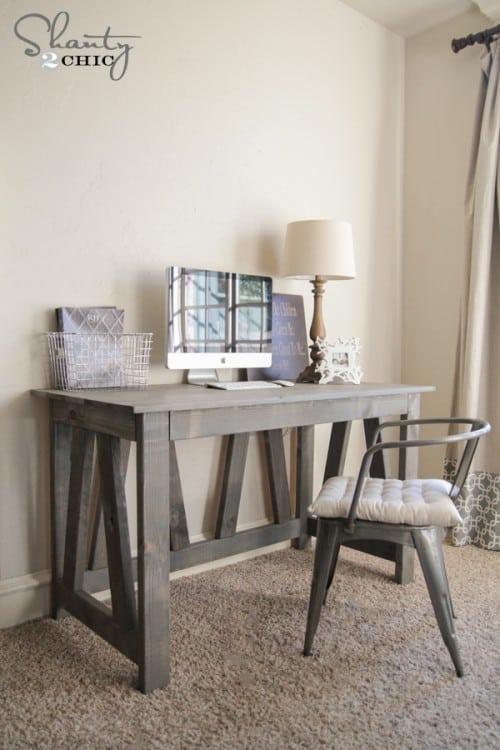 DIY desk plans - Truss desk