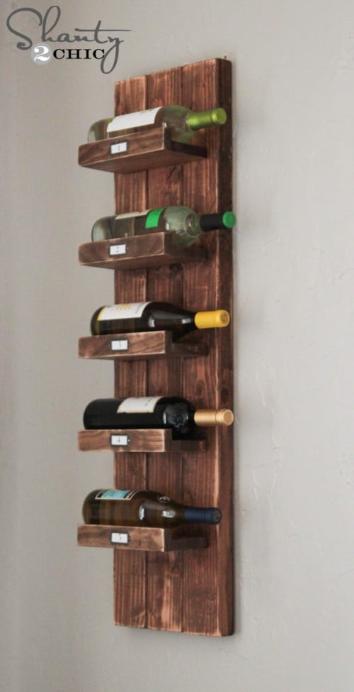 DIY wine rack ideas - Shanty 2 Chic