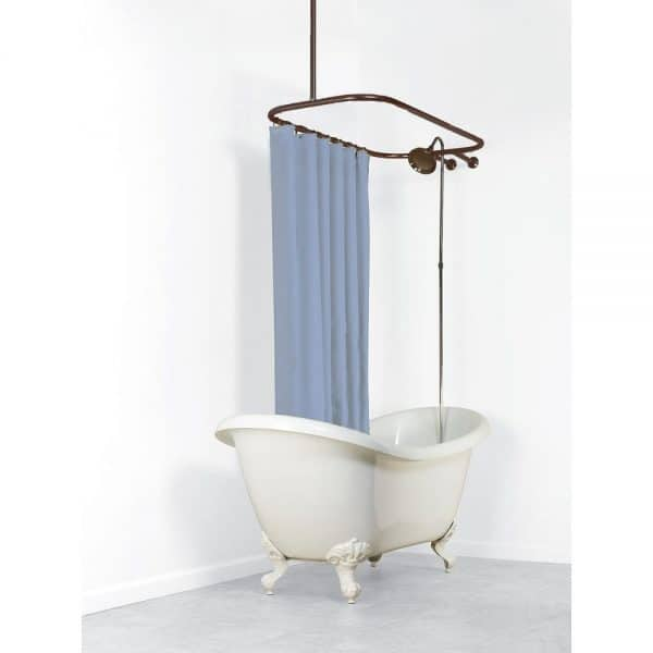 ring curtain rod for stand alone bathtub