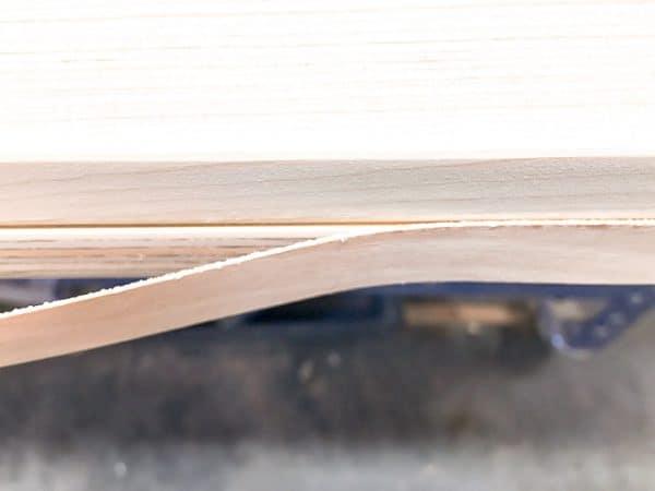 edge banding on side of barn door