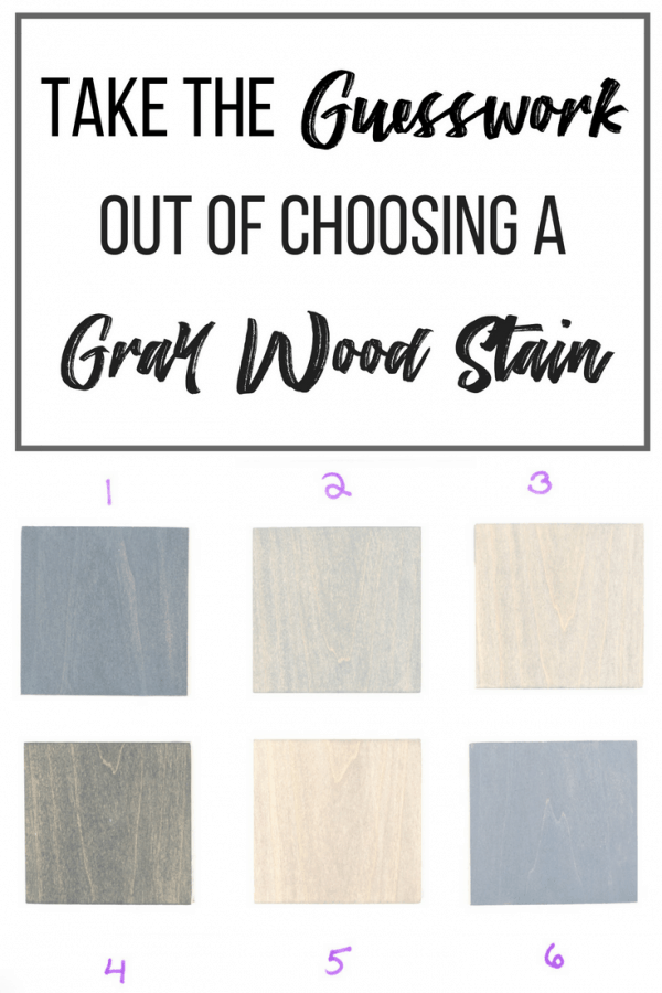 Take the Guesswork out of Choosing Grey Wood Stain Colors