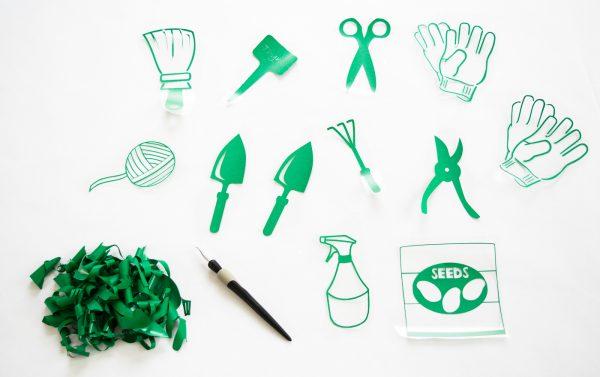 designs for pockets of hanging garden tool organizer
