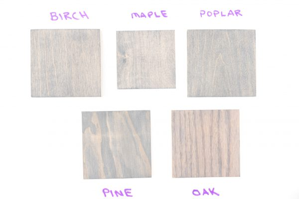 Minwax Classic Gray wood stain colors (2 coats)
