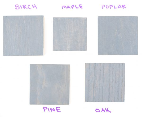 Minwax Coastal Gray Wood Stain Color Samples 1 Coat