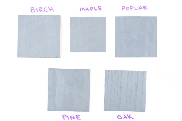 Minwax Coastal Gray wood stain color samples (2 coats)