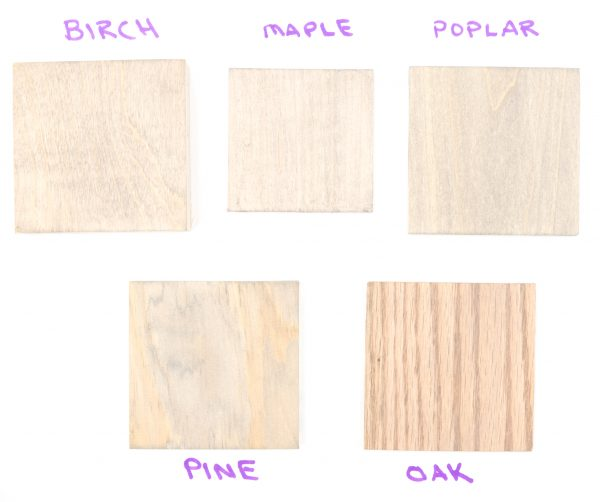 Sherwin Williams Gray Wood Stain color samples (1 coat)