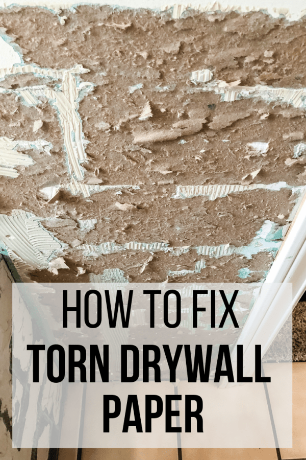 how to fix torn drywall paper