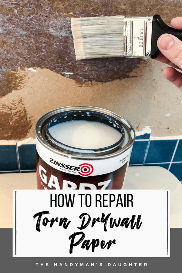 How to Repair Torn Drywall Paper with Zinsser Gardz problem surface sealer