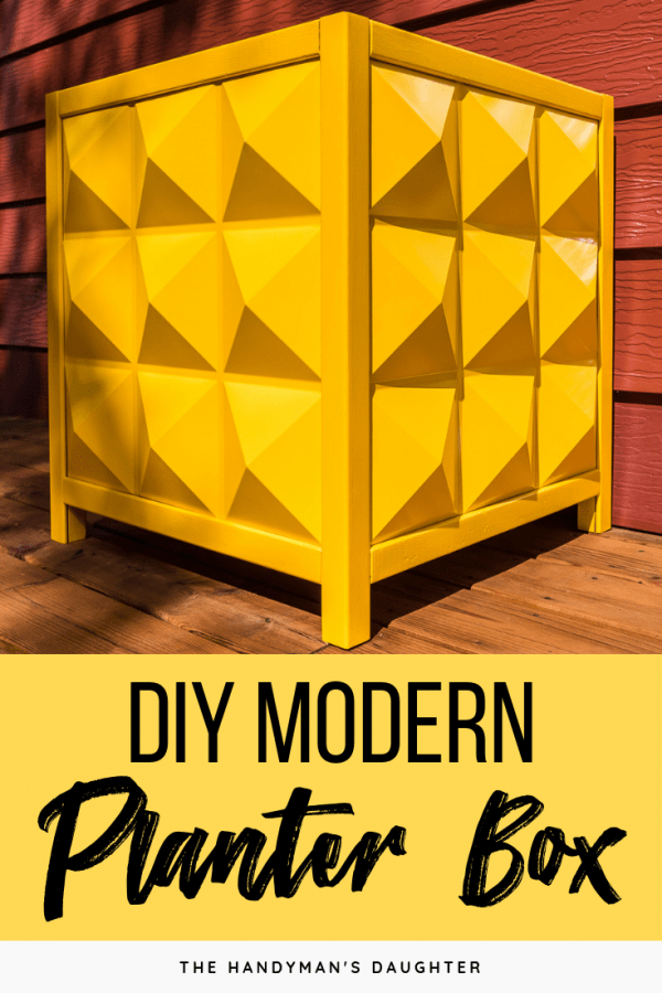 yellow modern outdoor planter box
