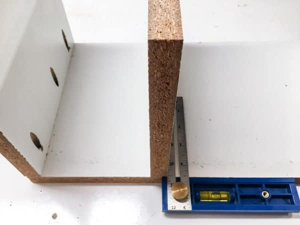 installing dividers in cordless drill storage rack