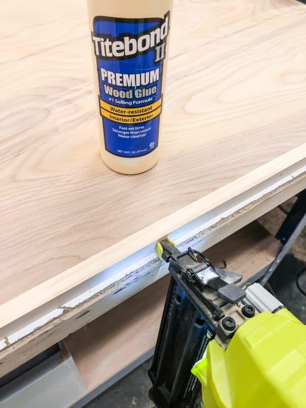 framing a plywood desktop