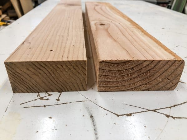 comparing 2x4s with corners cut off or not