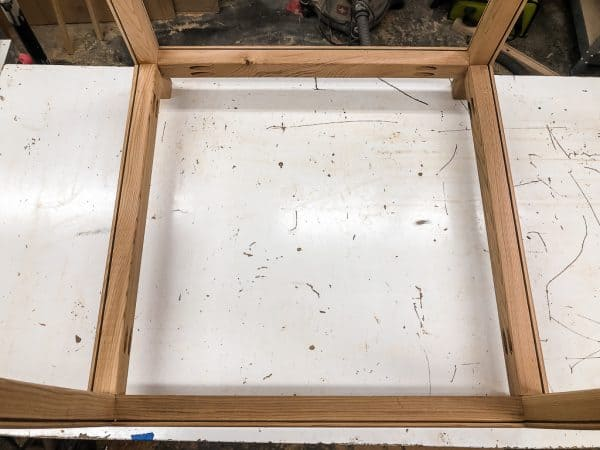modern planter box frame bottom
