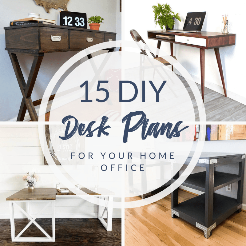 15 Diy Desk Plans To Build For Your Home Office The Handymans