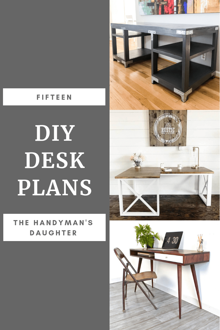 15 diy desk plans to build for your home office - the handyman's