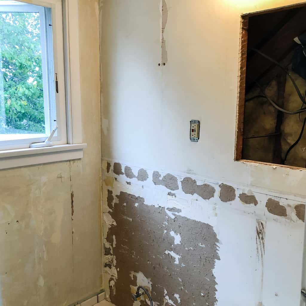 DIY bathroom demolition complete