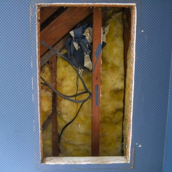 hole in wall from medicine cabinet