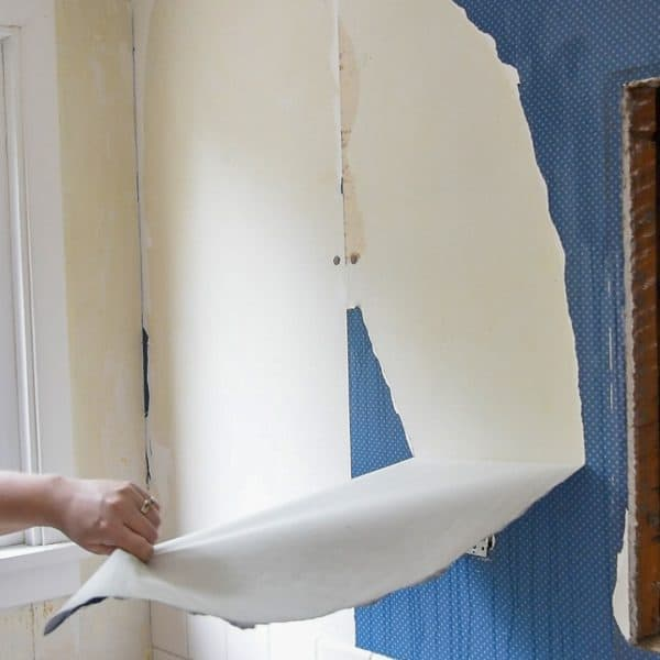 removing a big sheet of wallpaper in one piece